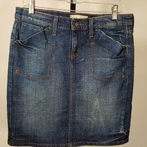 Lei American Brand Jean Denim Mini Jr Skirt Sz 7